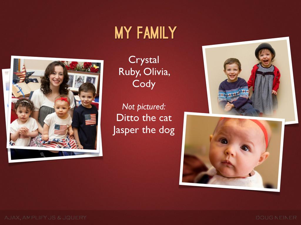 AJAX, AMPLIFY JS & JQUERY DOUG NEINER Crystal R...