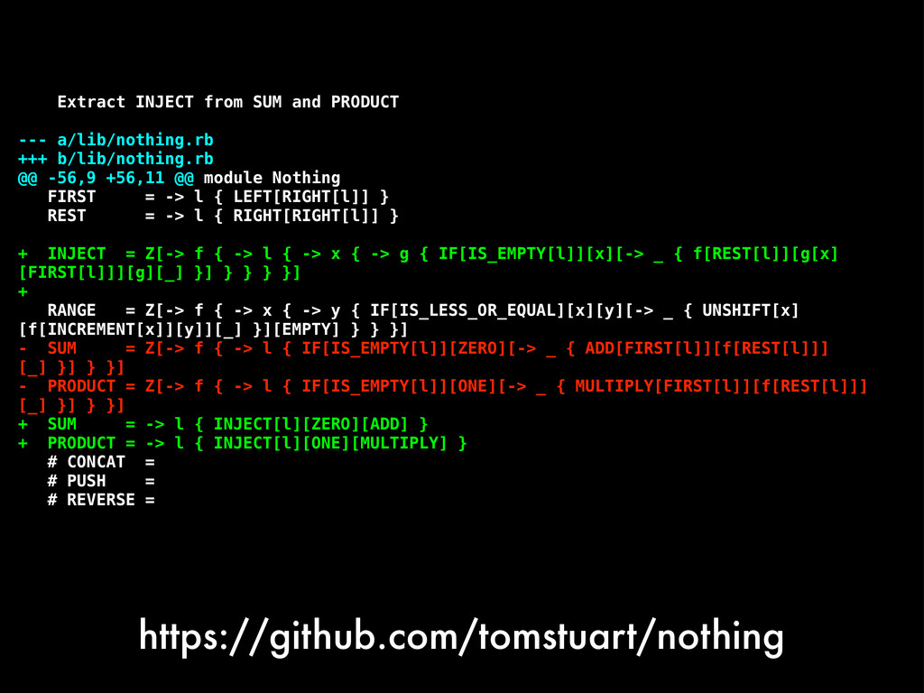 https://github.com/tomstuart/nothing Extract IN...