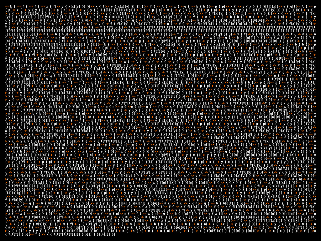 -> k { -> f { -> f { -> x { f[-> y { x[x][y] }]...