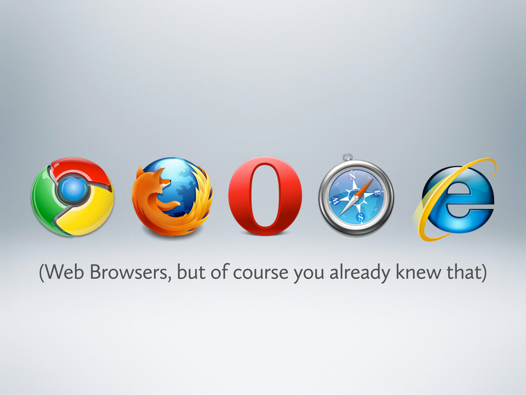 (Web Browsers, but of course you already knew t...