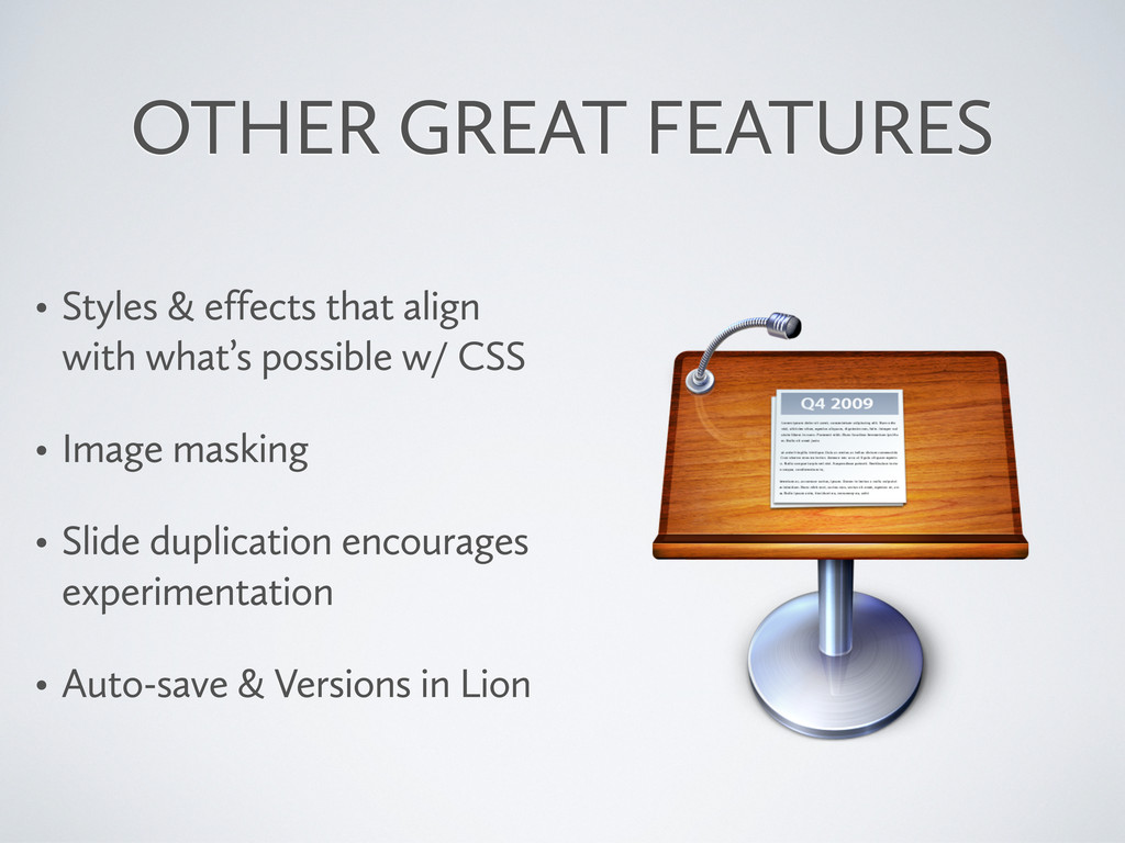 OTHER GREAT FEATURES • Styles & effects that al...