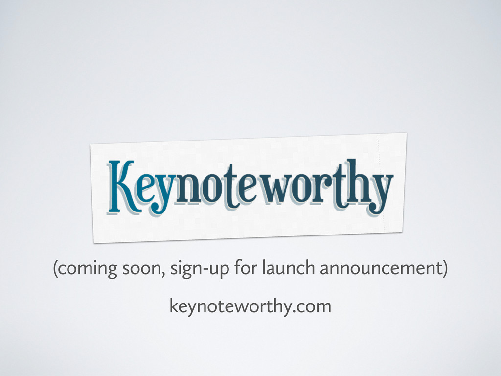 (coming soon, sign-up for launch announcement) ...