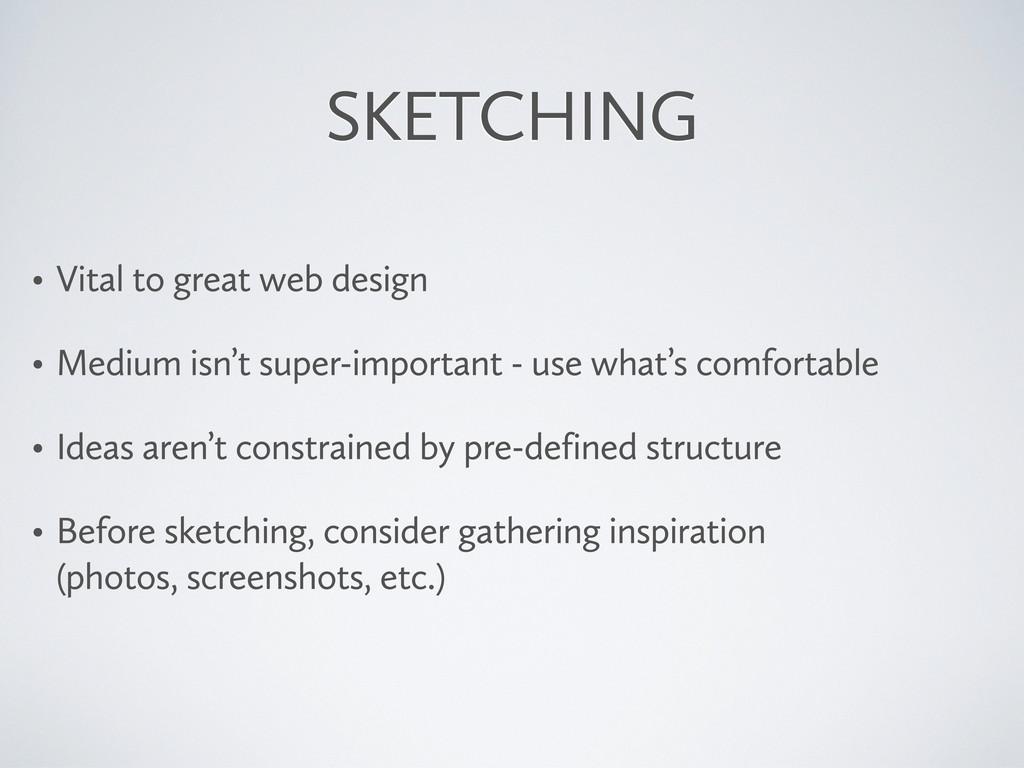 SKETCHING • Vital to great web design • Medium ...