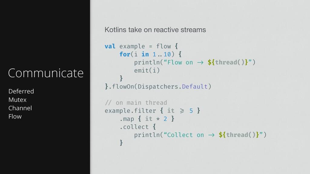 Deferred Mutex Channel Flow Communicate Kotlins...