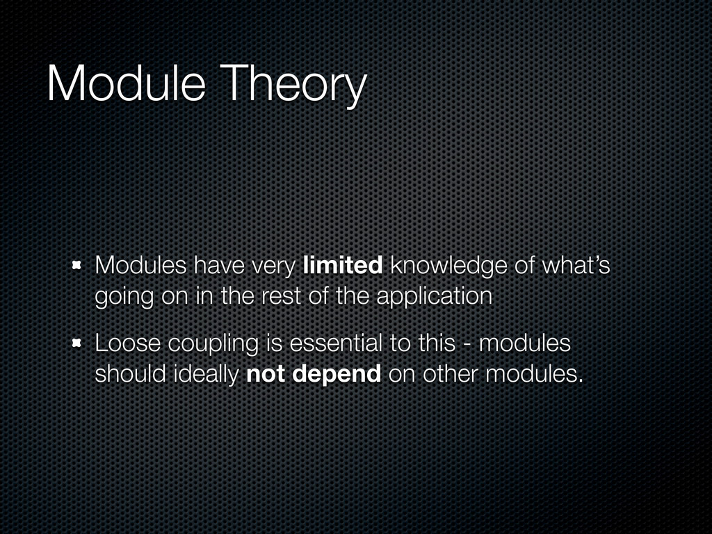 Module Theory Modules have very limited knowled...