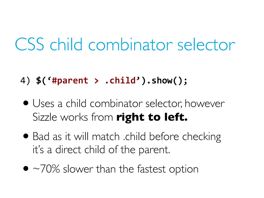 CSS child combinator selector •Uses a child com...