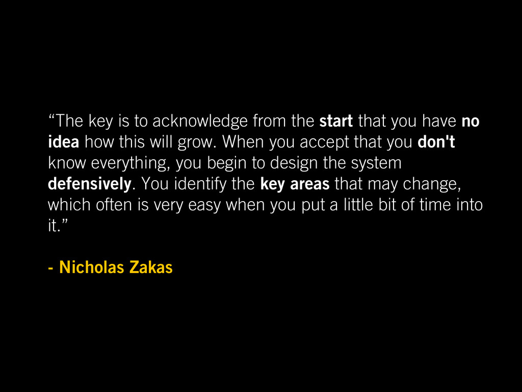 """The key is to acknowledge from the start that ..."