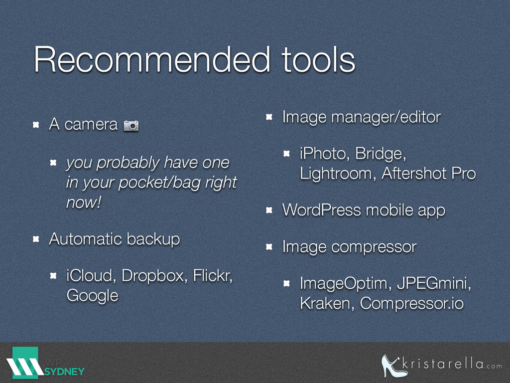Recommended tools A camera  you probably have o...