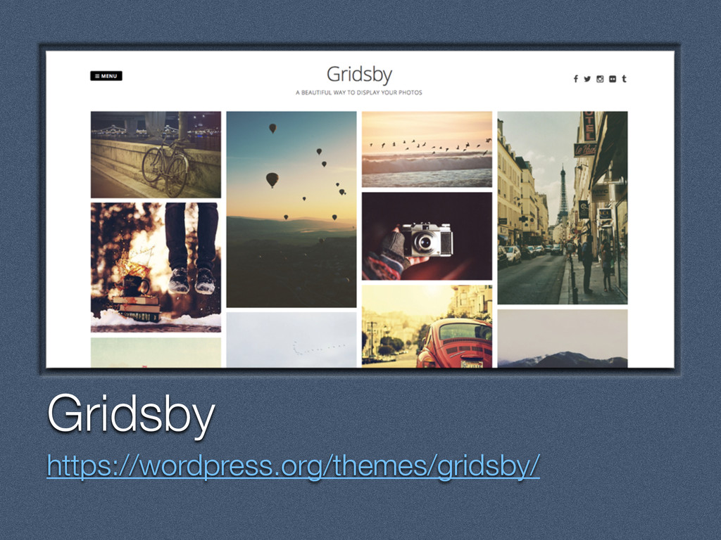 Text Gridsby https://wordpress.org/themes/grids...