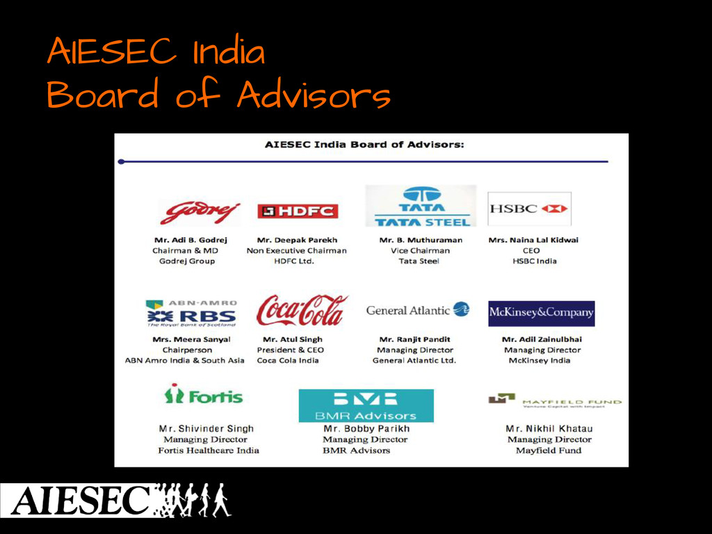 AIESEC India Board of Advisors