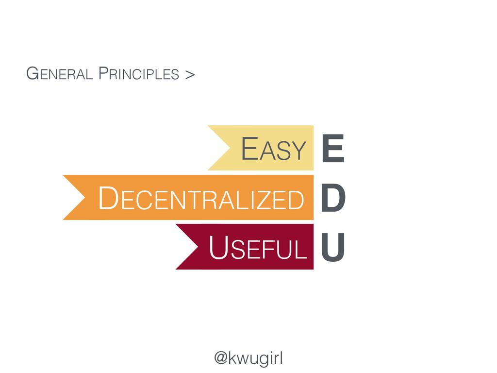 @kwugirl GENERAL PRINCIPLES > EASY E DECENTRALI...