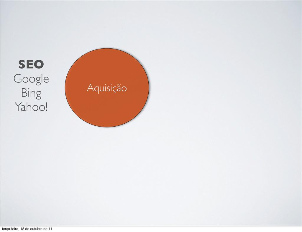 Aquisição SEO Google Bing Yahoo! terça-feira, 1...