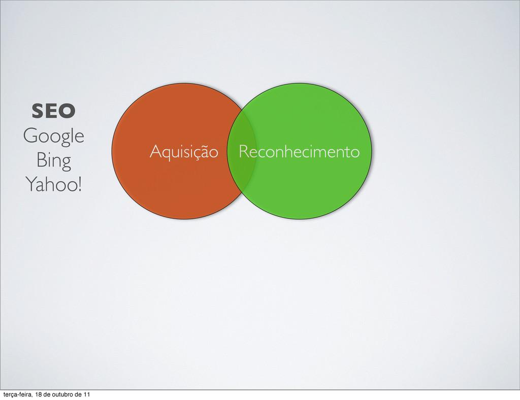 Aquisição Reconhecimento SEO Google Bing Yahoo!...
