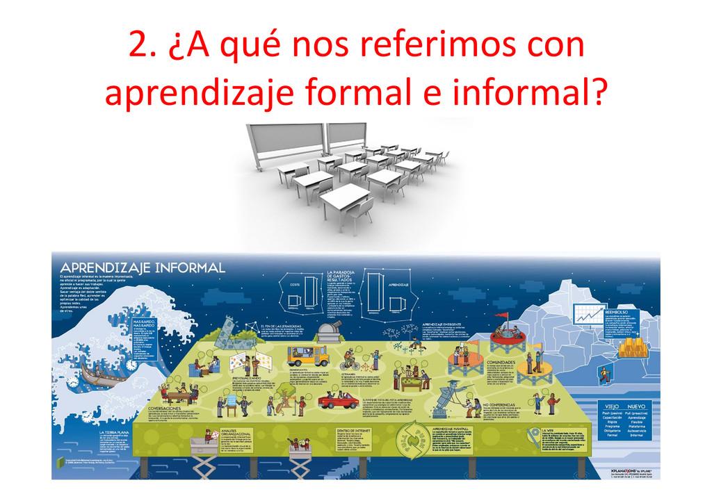 2. ¿A qué nos referimos con aprendizaje formal ...
