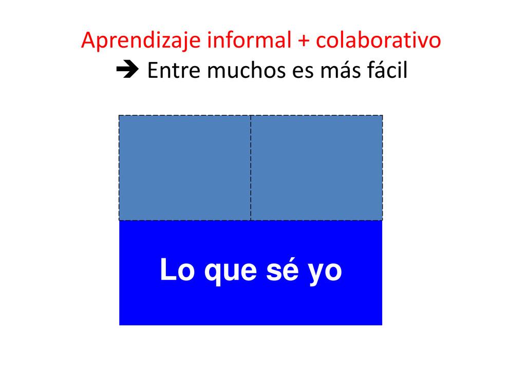 Aprendizaje informal + colaborativo  Entre muc...