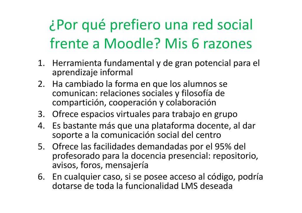 ¿Por qué prefiero una red social frente a Moodl...