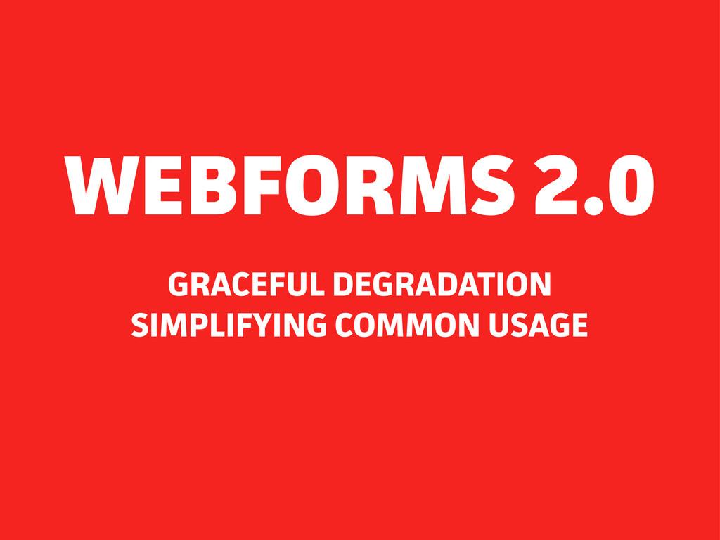 GRACEFUL DEGRADATION SIMPLIFYING COMMON USAGE W...
