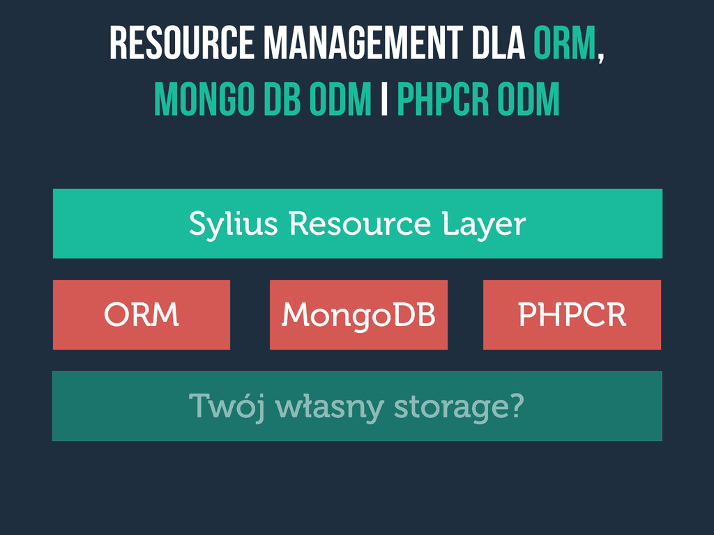 Resource management dla orm, Mongo dB ODM i PHP...