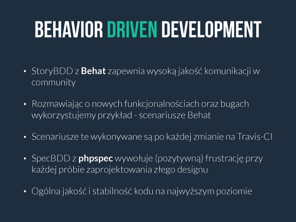 Behavior DRIVEN DEVELOPMENT • StoryBDD z Behat ...