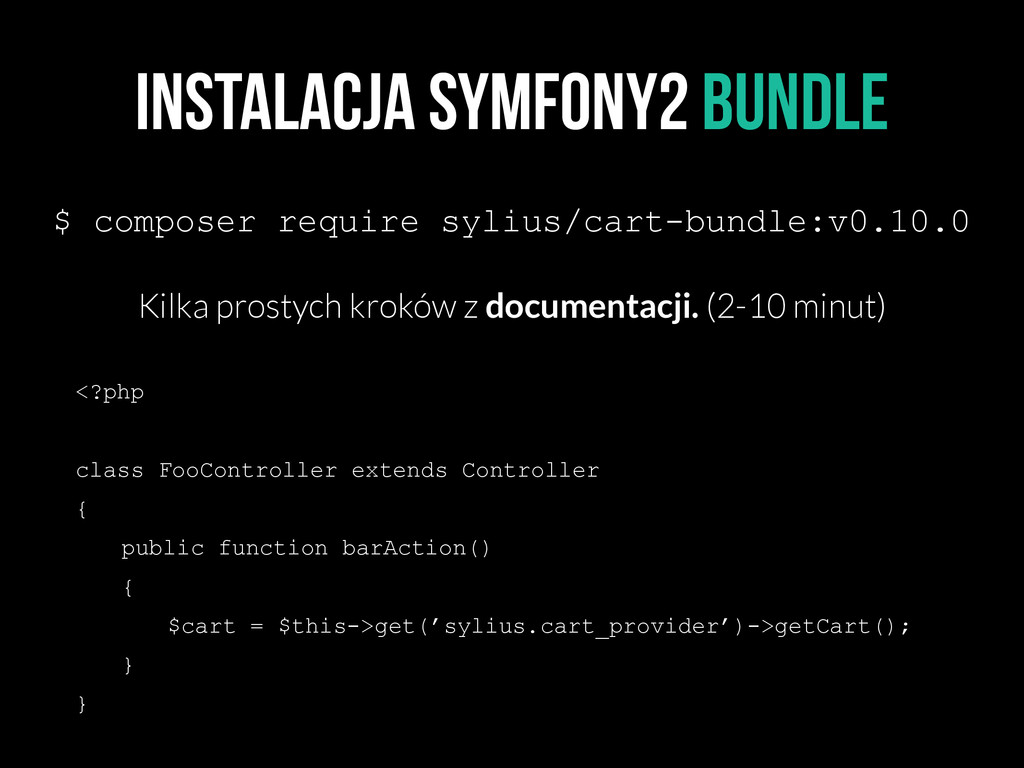 Instalacja symfony2 bundle $ composer require s...