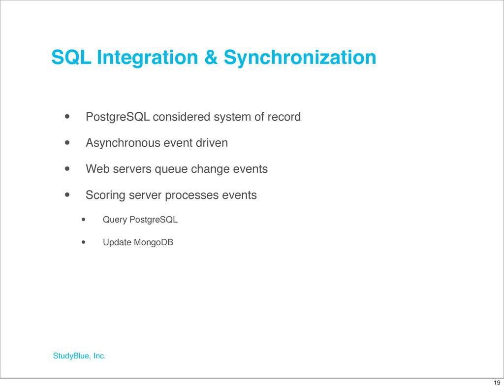 StudyBlue, Inc. SQL Integration & Synchronizati...