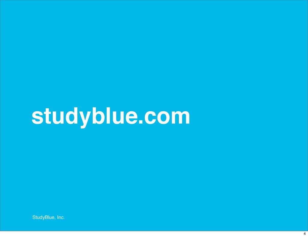 StudyBlue, Inc. studyblue.com 4