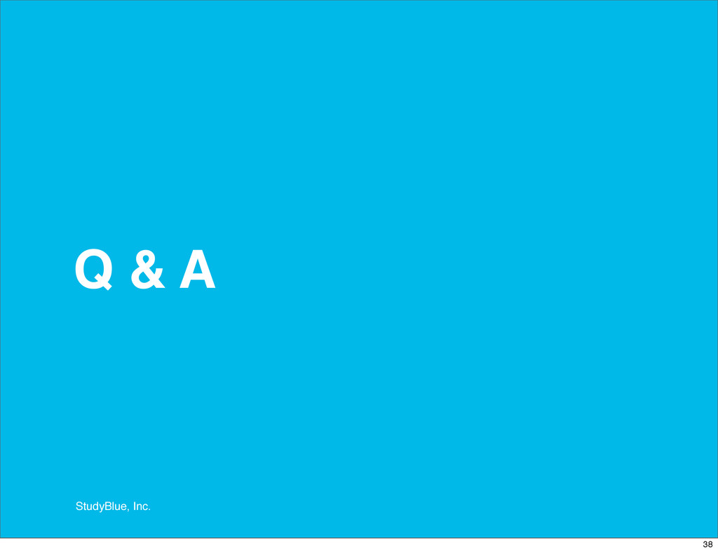 StudyBlue, Inc. Q & A 38