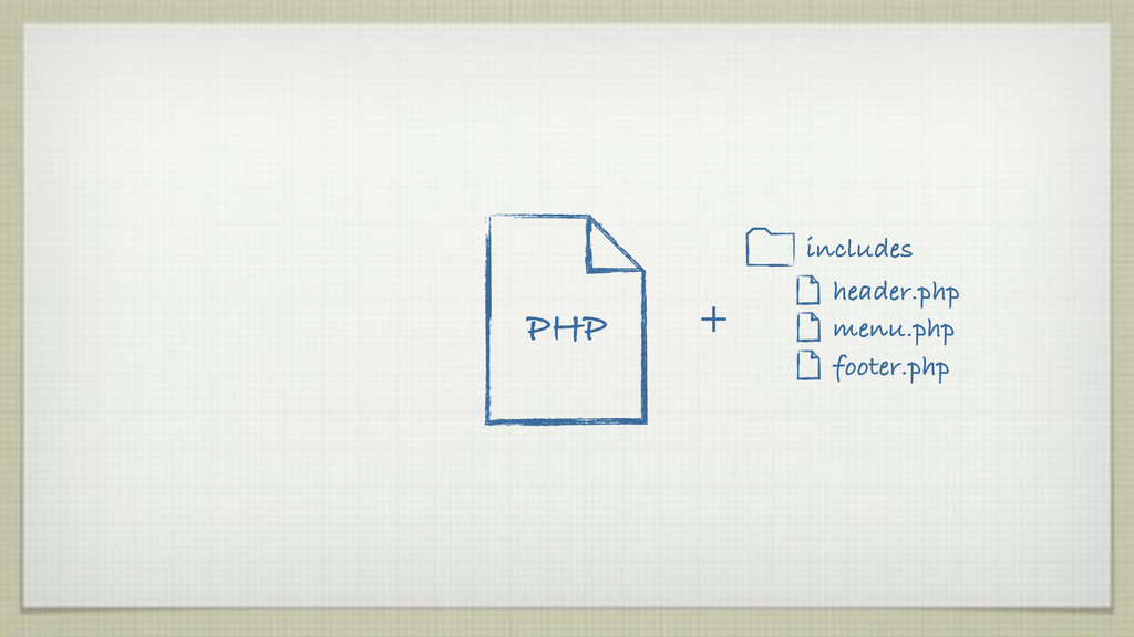 PHP header.php menu.php footer.php + includes