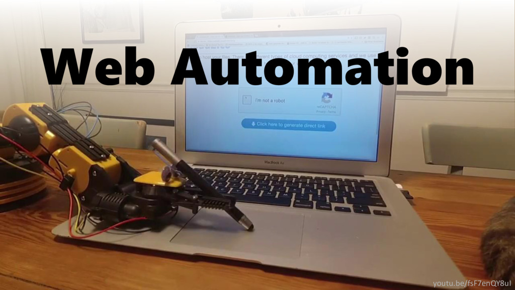 Web Automation youtu.be/fsF7enQY8uI