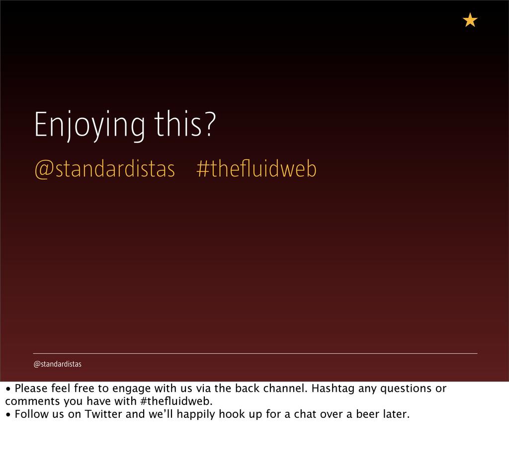 @standardistas Enjoying this? @standardistas #t...