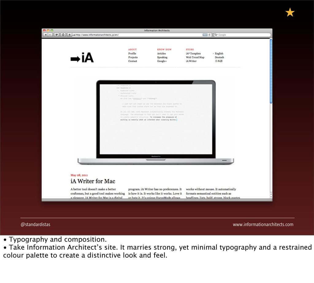 @standardistas www.informationarchitects.com • ...