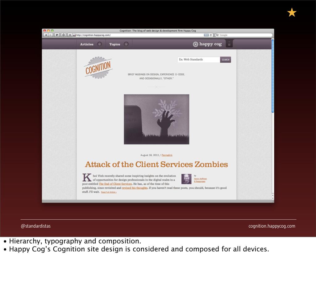 @standardistas cognition.happycog.com • Hierarc...