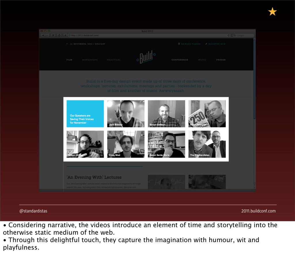 @standardistas 2011.buildconf.com Maybe swap th...