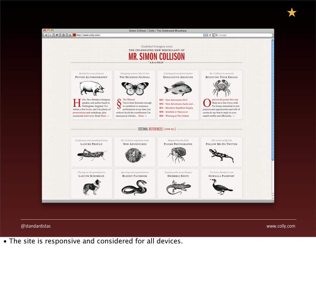 @standardistas www.colly.com • The site is resp...
