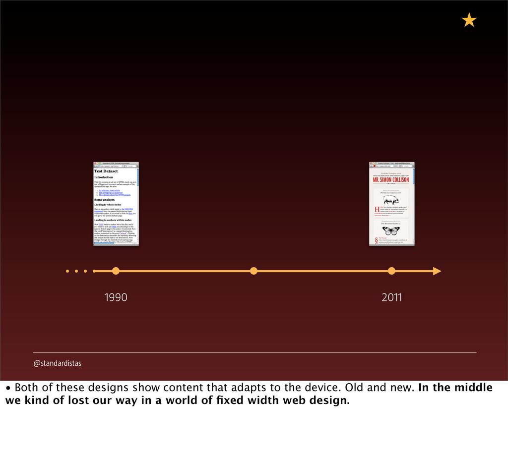 @standardistas 1990 2011 • Both of these design...