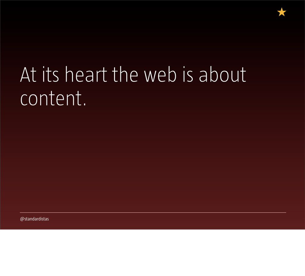 @standardistas At its heart the web is about co...