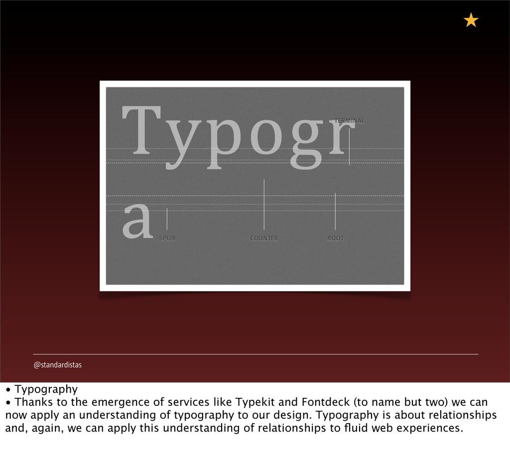 @standardistas Typogr a COUNTER SPUR ROOT TERMI...