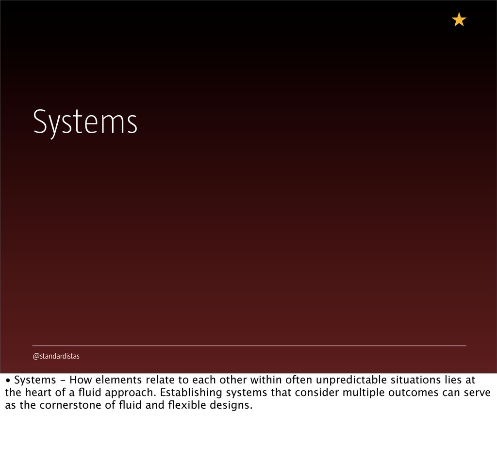@standardistas Systems • Systems - How elements...