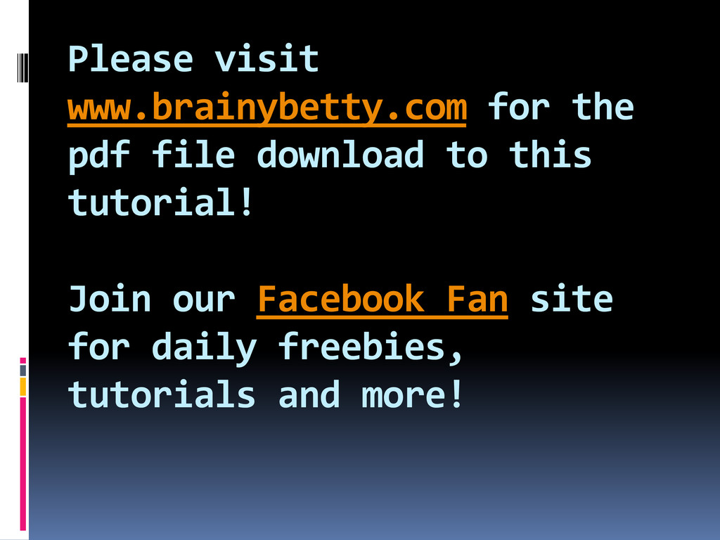 Please visit www.brainybetty.com for the pdf fi...