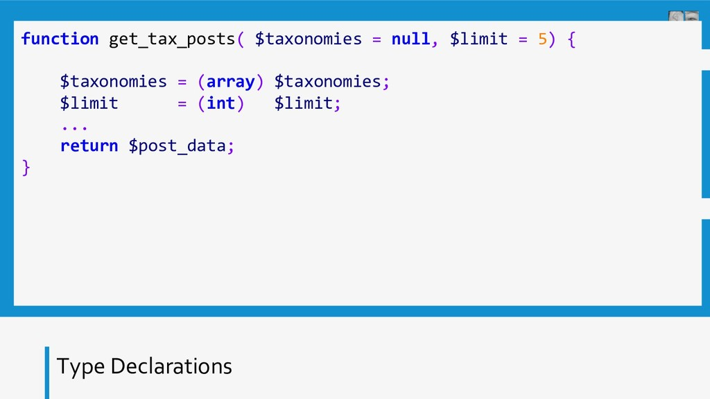Type Declarations function get_tax_posts( $taxo...