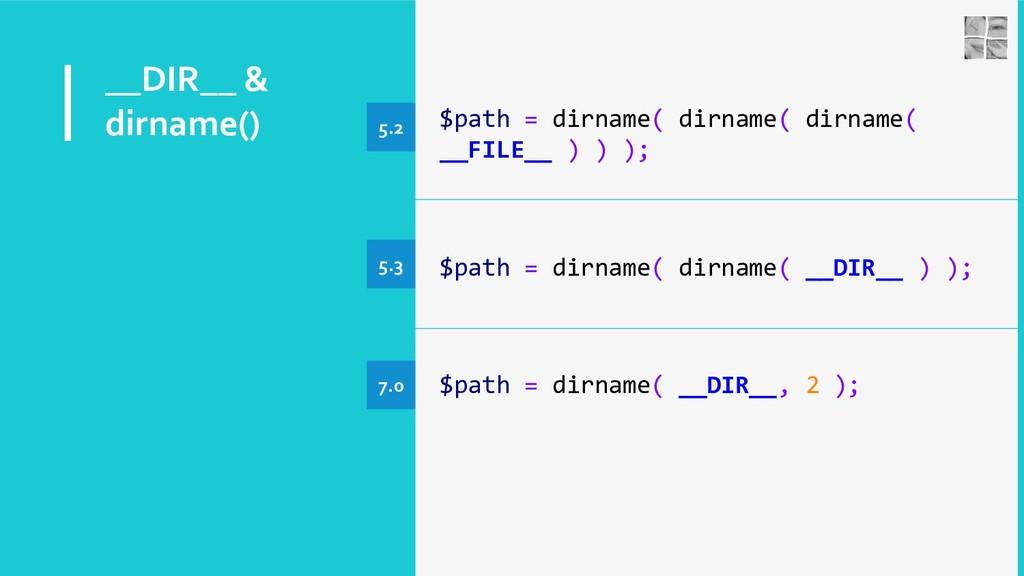 __DIR__ & dirname() $path = dirname( dirname( d...