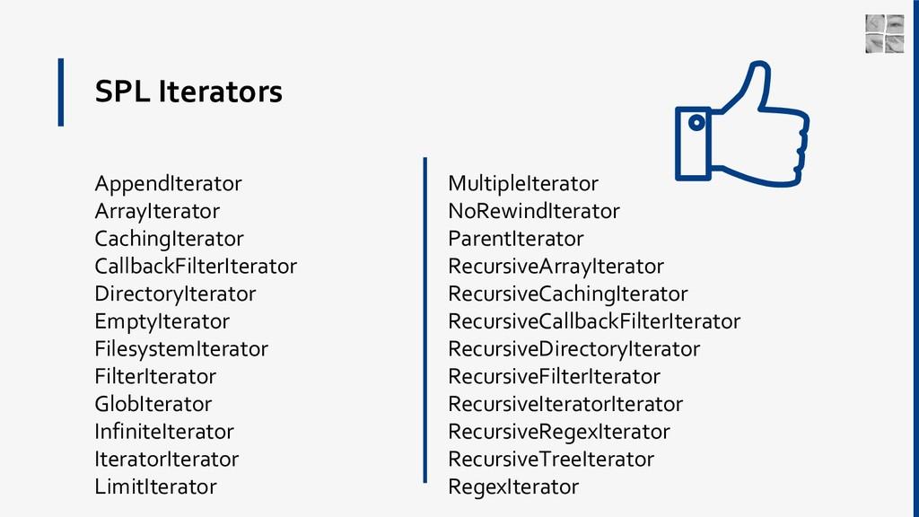SPL Iterators AppendIterator ArrayIterator Cach...