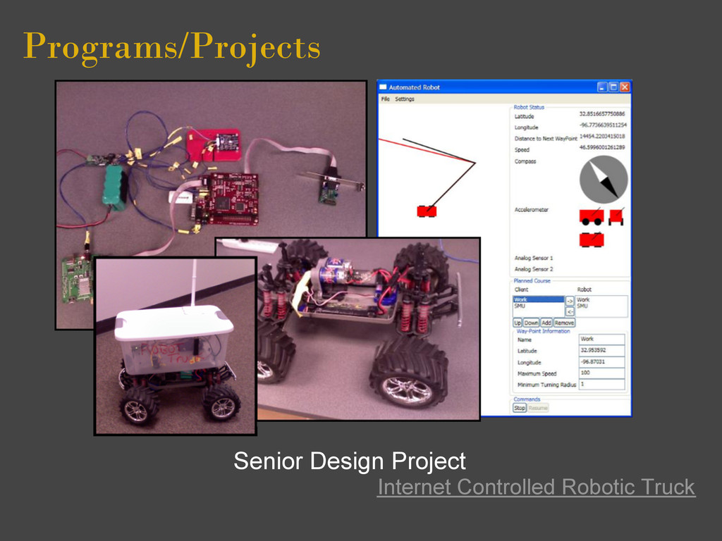 Programs/Projects Senior Design Project Interne...