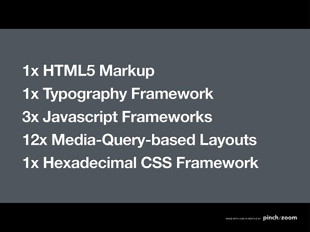 1x HTML5 Markup 1x Typography Framework 3x Java...