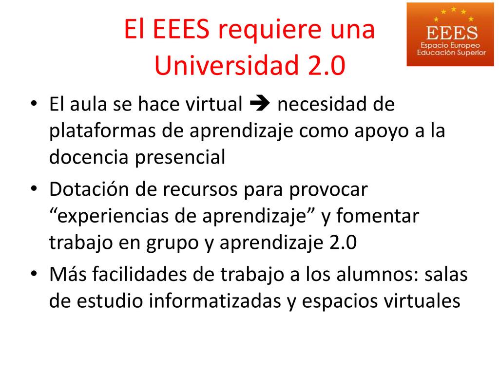 El EEES requiere una Universidad 2.0 • El aula ...