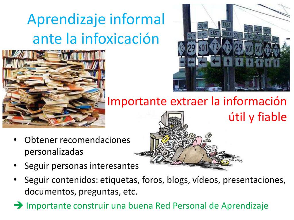 Aprendizaje informal ante la infoxicación Impor...