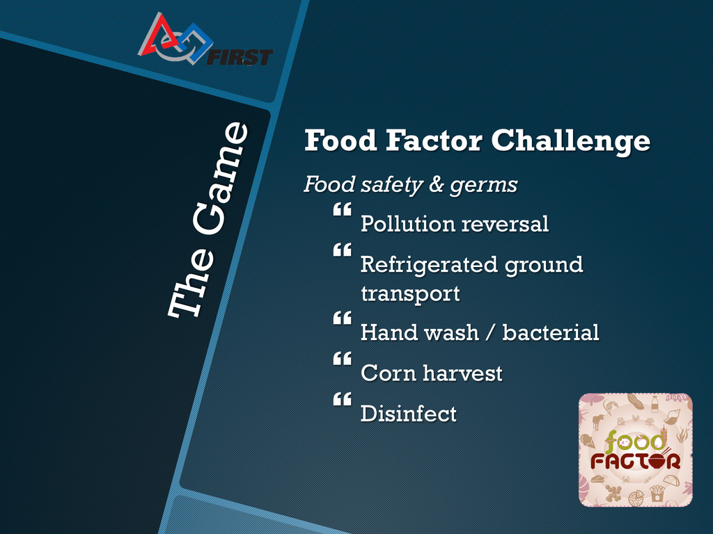 The Game Food Factor Challenge Food safety & ge...