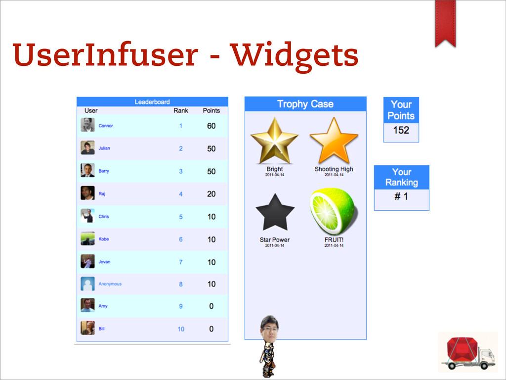 UserInfuser - Widgets