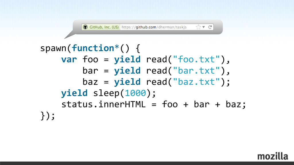 spawn(function*() {     var f...