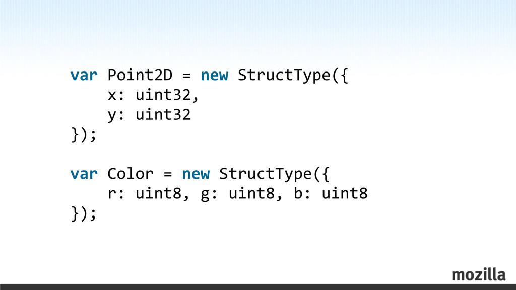 var Point2D = new StructType({  ...